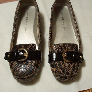 ANNE KLEIN CROCO EMBOSSED SHOES MOCS 10